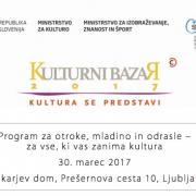 Kulturni bazar 2017 - Program za otroke in mladino